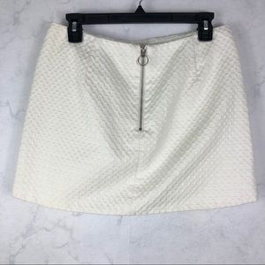 [Topshop] White Textured Skirt